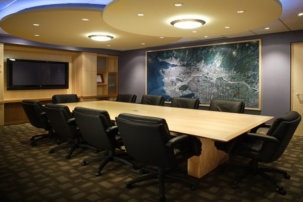 Rectangular Maple Veneer Conference Table
