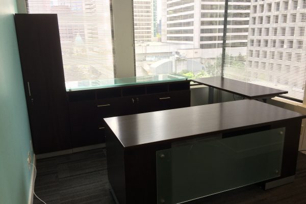 Desk - Glass MP & Height Adjustable Bridge