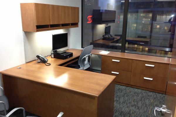 ¼ Cut Maple Desk – Bullnose Edge