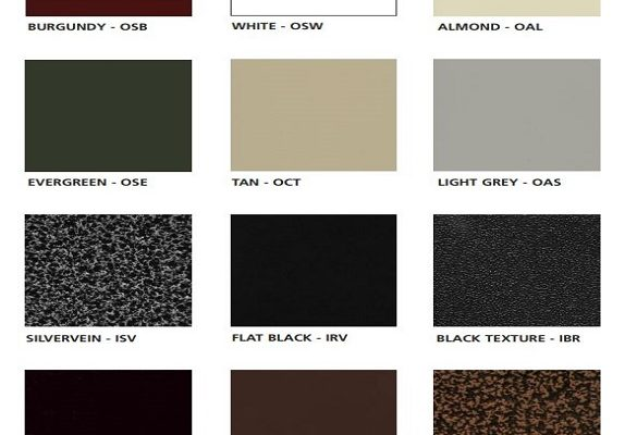 VM - Finishes - Powder Coating Standard Colors