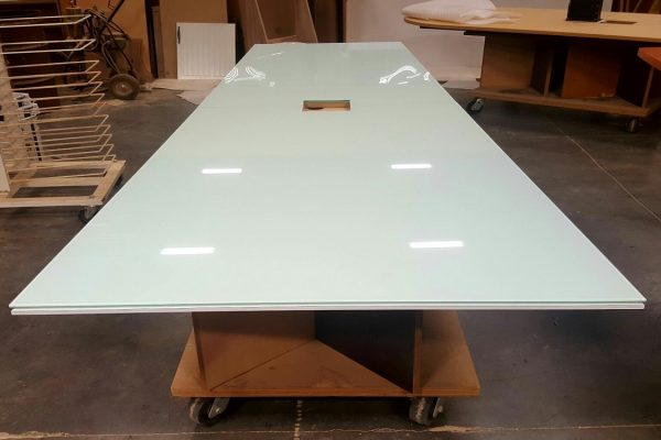 Polar Lami Glass Boardroom Table Top