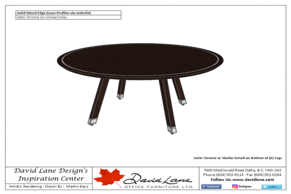 60 Inch Round Table - Solid Wood Legs