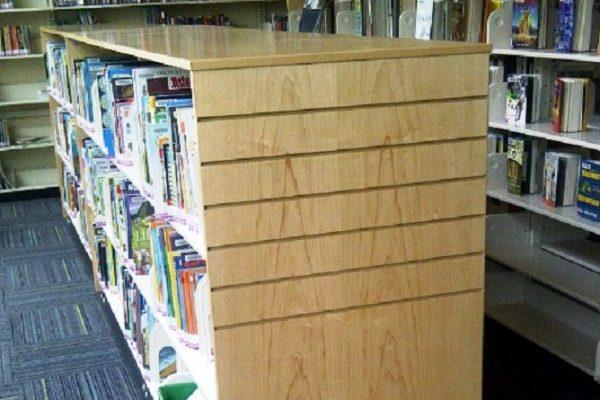Maple Veneer Mobile Library Shelf