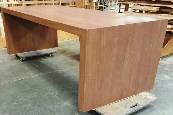 "Laminate Table With 4"" Thick Top & Gables"