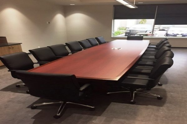 HP Laminate Boardroom Table - Solid Wood Edge