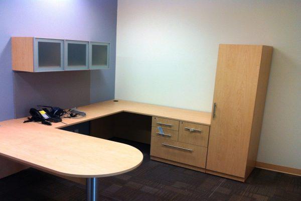 Bullet Desk - Wall Bins & Wardrobe