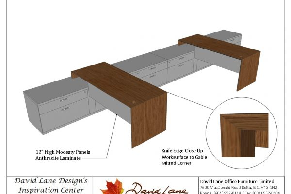 Benching Desk With Filing