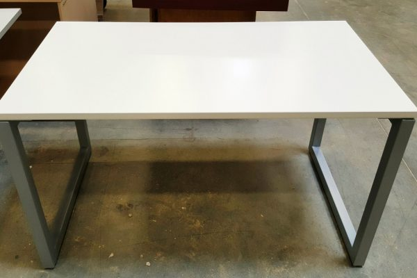 Desk With Metal Box Legs