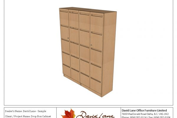 Mail Drop Box Cabinet