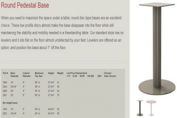 GB - Pedestal Base Round