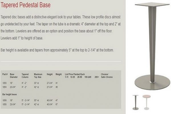 GB - Pedestal Base - Tapered
