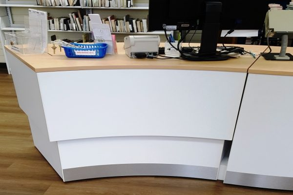 Height Adjustable Library Pod - Outside