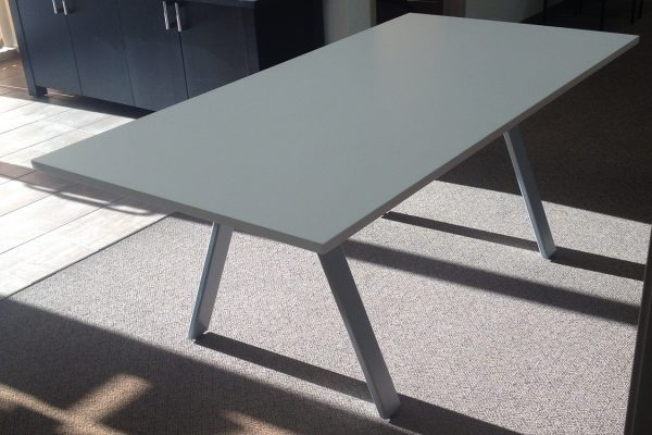 Laminate Table - A Frame Powder Coated Base
