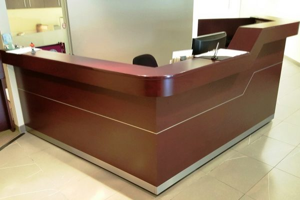 Reception Desk - Dual Height With Inlay