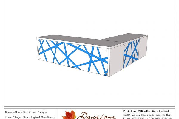 Lighted Glass Panel Desk
