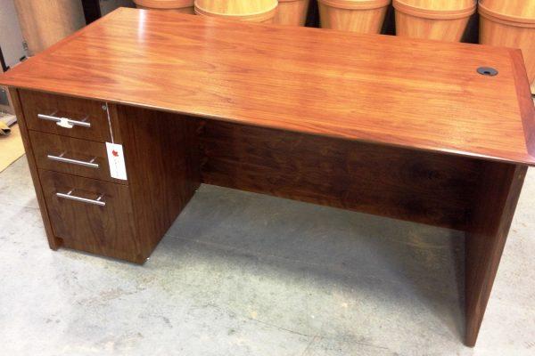 Rectangular Walnut Veneer Desk