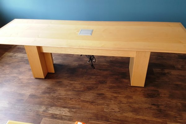 Veneer Table With Panel Box Bases