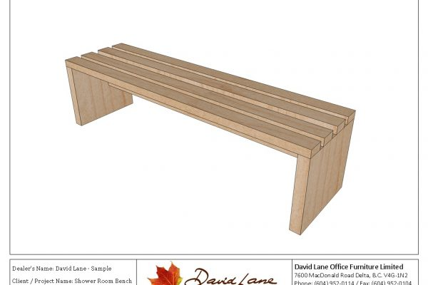 Solid Wood Slat Bench