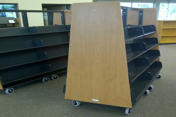 Sloped Mobile Book Racks