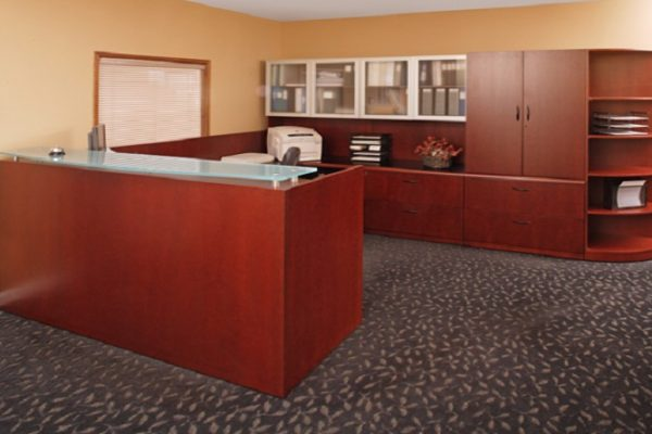 U Shaped Veneer Reception Desk