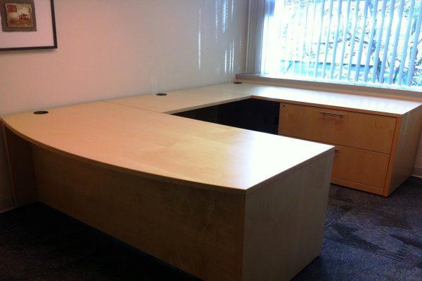 Veneer Bow Front Desk