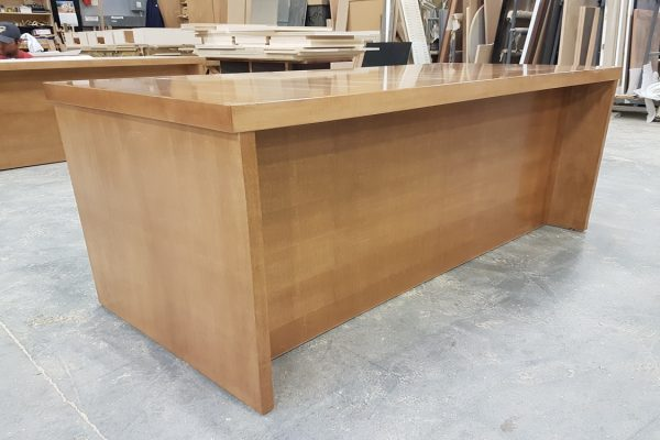 "Veneer Desk With 2"" Thick Top"