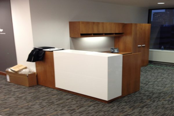 Reception - White Laminate Transaction Corner