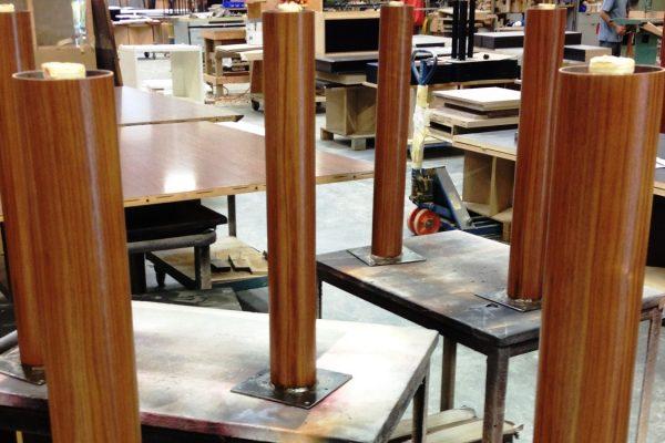 Veneer Wrapped Metal Post Legs