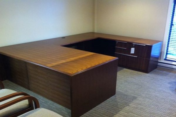 1/4 Cut Walnut Desk Suite