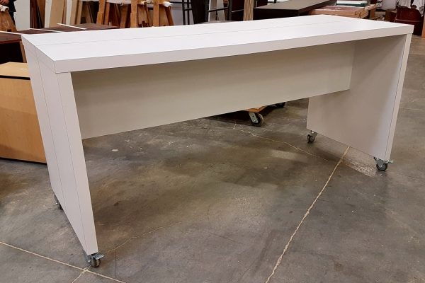 "Mobile Laminate Table 32"" X 84"" With Painted Saw Cut Revel"