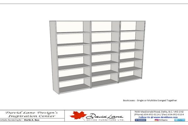 Bookcases - Singles Or Multiple Ganged Units