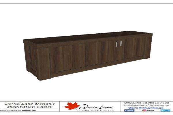 Custom Credenza With Post Columns & Recessed Panels