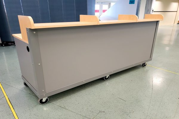 Mobile High-Pressure Laminate Guest Check-In Counters