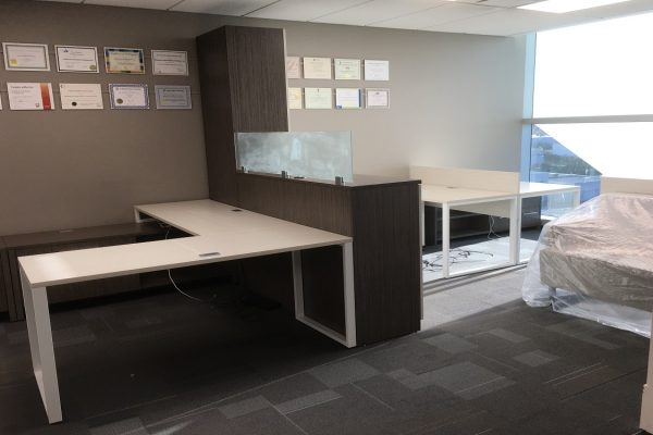 Benching Style Desks & Credenza & Storage Unit