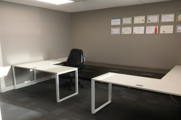 Benching Style Desks & Credenza