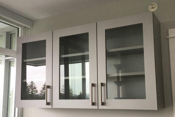 Laminate & Glass Door Wall Cabinets