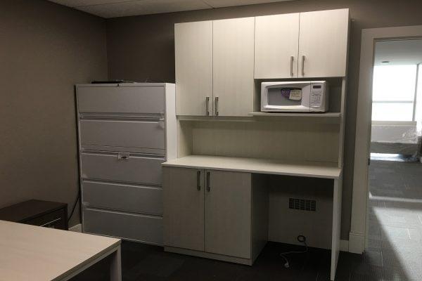 Microwave & Mini Fridge Storage Unit