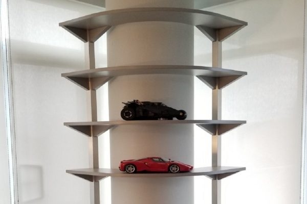 Unique Shelf Unit - Curved Around Support Post
