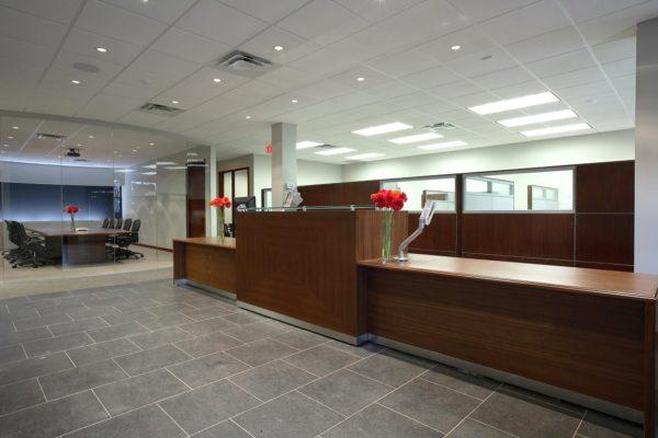 Walnut Veneer Reception Counter
