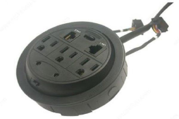 Richelieu 3 Outlets - 2 USB Power Grommet