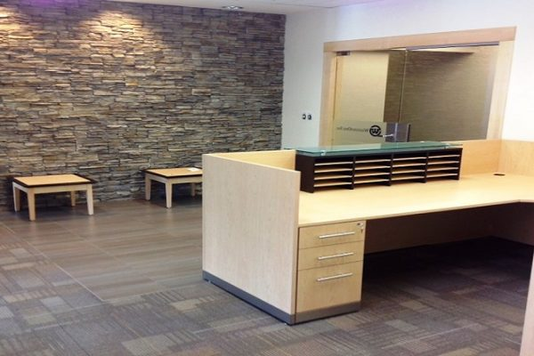 Two Tone Reception With Mail Cubbies