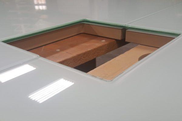 Polar Lami Glass Table Top Close Up