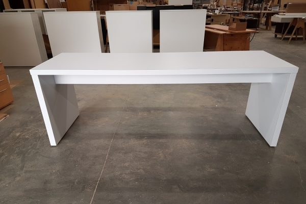 """Laminate Table With 2"""" Thick Top & Gables"""