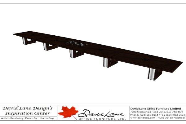 30 Foot Table With Laminate Inlay