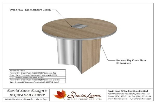 Round Table With Trapezoid Base