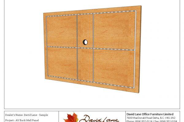 AV Back Wall Panel