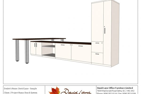 Bench System Floating Worksurface