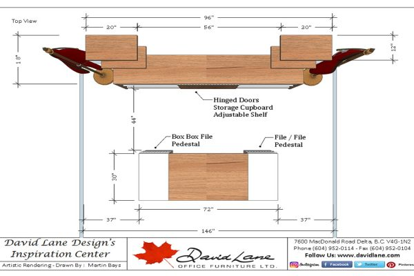 Stylish Modern Veneer & Laminate Desk Suite