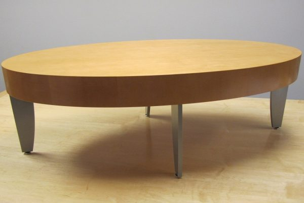 Oval Coffee Table - Metal Legs
