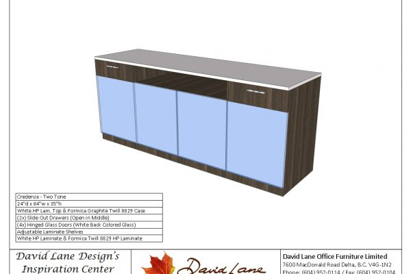 Credenza With Glass Doors